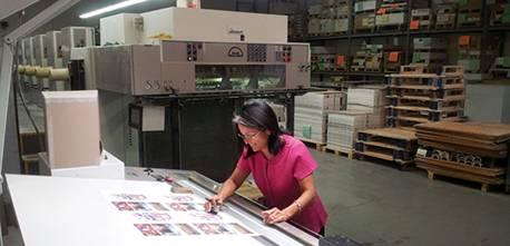 Rick Steber book printing press